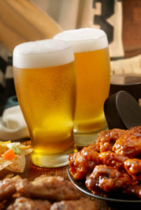 Wings, beer, sports